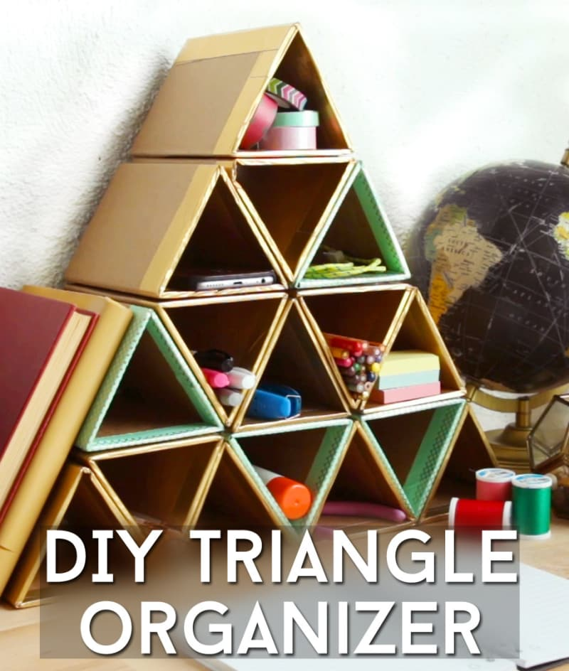 Simple-to-Craft Triangle Organizer from Cardboard Boxes