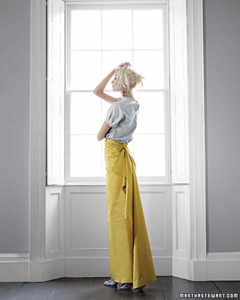 Vogue n Style: DIY Glam Wrap Skirt By Martha Stewart