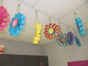 Beautiful Spring Flower WInd Catcher with Rainbow Color Accents