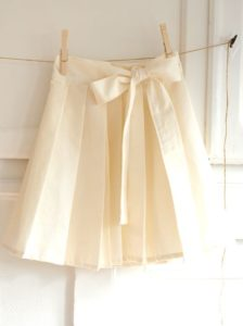 Grand Revival Designs: Pleated Wrap Skirt with Classy Waistband Tie