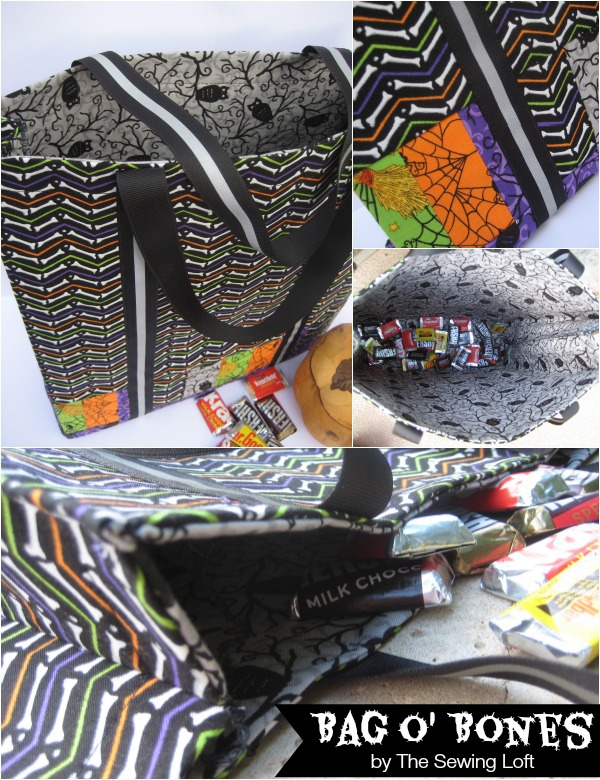 Halloween Tote Bag Craft Idea: DIY Fat Quarter Project with Double-Sided Fabric Cover