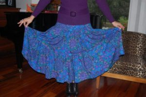Voguish Yet Easy-to-Make Three Tiered Twisted Skirt Tutorial in Maxi Length