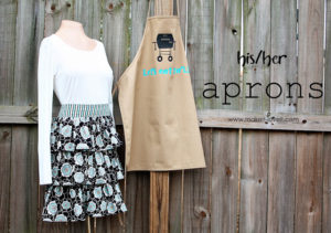 Last Minute DIY Gift Craft Idea: A Pair of His and Her Apron Set