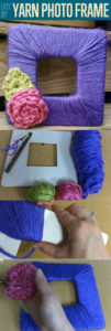 Beautiful DIY for Mother's Day: Yarn Photo Frame with Floral Decor