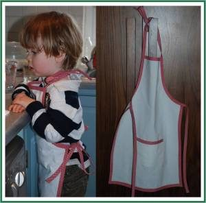 No-Sew Recycled DIY Apron Tutorial from Hemming Skirt