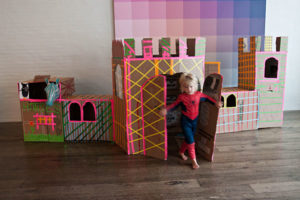 DIY Cardboard Playhouse Craft: Royal Castle