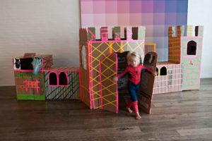 DIY Cardboard Playhouse Craft: Royal Castle
