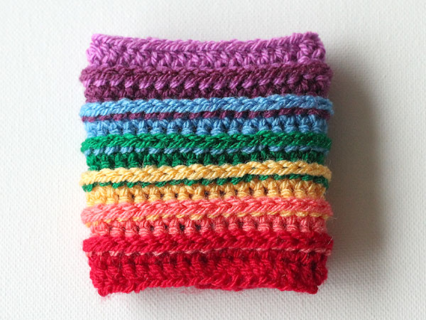 Rainbow Cup Cozy with Colorful Half-Double Crochet Pattern