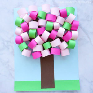 Tutorial of 3D Spring Paper Tree with Beautiful Color Accent
