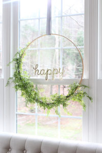 Classy Floral Hoop Spring Wreath Craft Idea for Toddlers