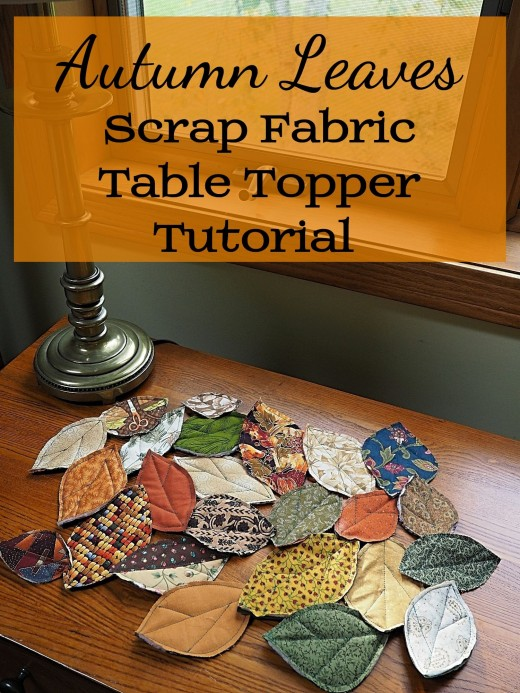 How to Make Quilted Fall Leaves Table Topper out of Fabric Scraps