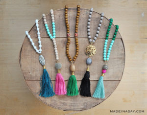 Super Trendy Beaded Tassel Necklace: DIY Jewelry
