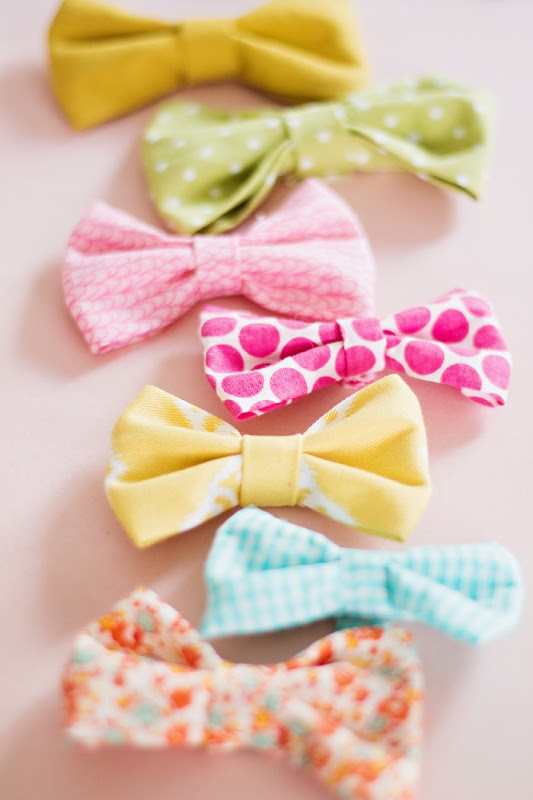 Easy Tutorial of How to Make Colorful Fabric Bows with Different Designs