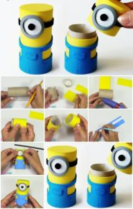 Charming and Adorable Minion Boxes from Cardboard Tubes