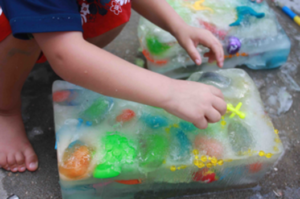 Ice Block Treasure Hunt: A Smart Ice Game Idea for Toddlers