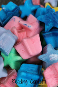 Ice Chalk Confetti: DIY Ice Crafts with Different Shades & Shapes