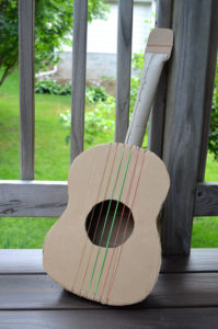 Super Chic Cardboard Guitar Crafting Idea for Toddlers