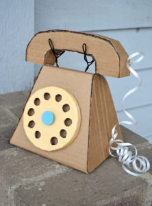 Vintage Cardboard Telephone: An Impressive DIY Idea for Kids