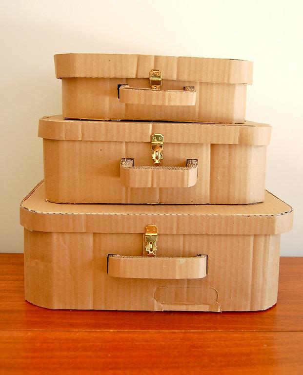 DIY Cardboard Suitcase: A Highly Functional Storage Craft Idea with Cardboard
