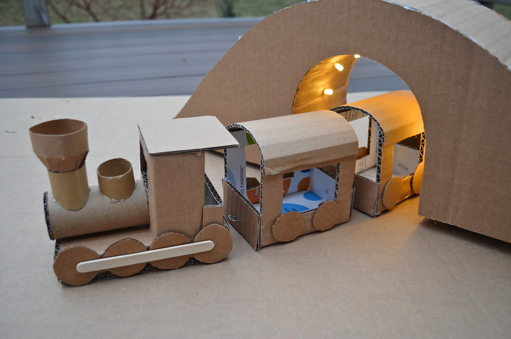 DIY Cardboard Train: A Simple Play Toy Craft Idea for Toddlers