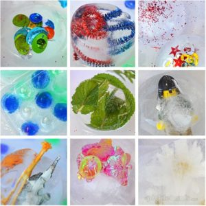 Different Objects to Freeze in Ice Blocks: DIY Ice Activity for Toddlers