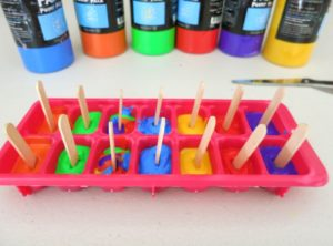 Paintsicles Frozen Paint Cubes: Creative Ice Activity for Kids