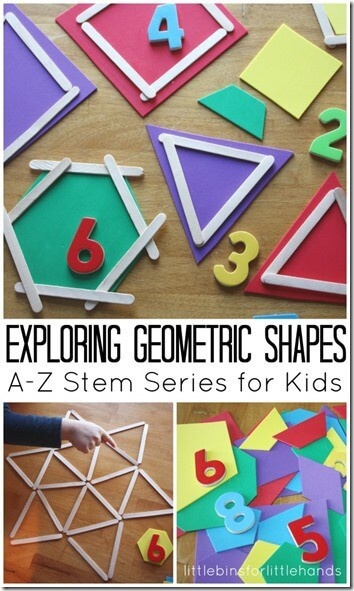 DIY Geometric Shape Game with Popsicle Sticks