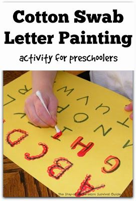 Kids Activity: Cotton swab Highlighting Alphabet with Painting