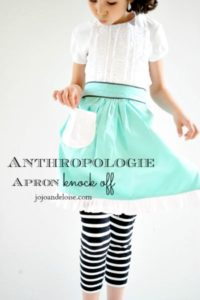 Easy Tutorial of Cute Anthropologie Apron with Ruffled End Tier