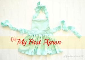 Upcycled Frock Apron from Old Shirt for Little Girls with a Catchy Waistband