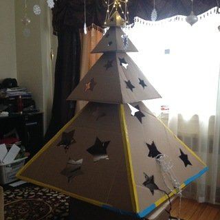 Charming and Easy-to-Craft Cardboard Christmas Tree Tutorial