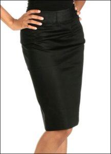 Graceful Pencil Skirt in Free Pattern with Knee-Length Sloper Shape