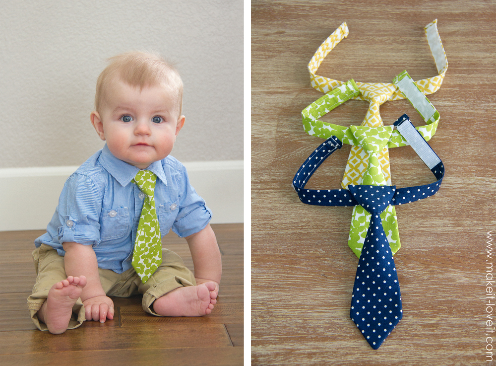 DIY 'Little Guy Tie' Craft: Scrap Fabric Kid's Tie with Velcro Strapping Ends
