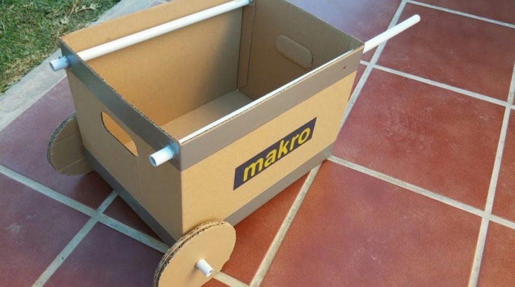 Super Quick Cardboard Wheelbarrow for Lightweight Goods