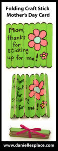 Popsicle Sticks Folding Mother's Day Craft with Hidden Message
