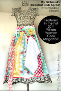 Beautifully Embellished Half Apron with Large Fabric Daisy on Waistband