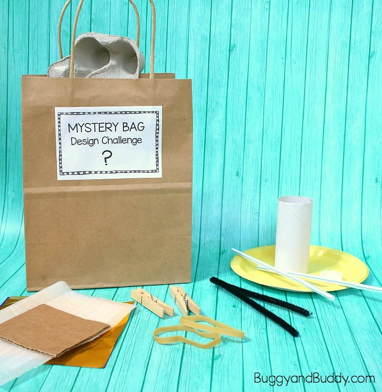 Mystery Bag Design Challenge with Free Printable Challenge Cards