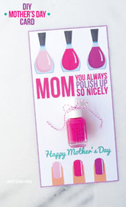 Nail Polish Mother's Day Card: A Trendy DIY for Stylish Moms