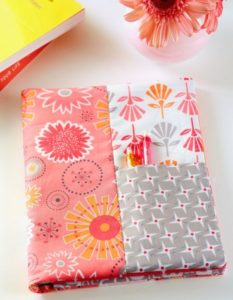 Fabric Made Notebook Cover with Yard Lining Fabric in Assorted Prints and All-Sewn Pattern