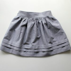 Fancy Paris Skirt Free Pattern in Thigh-Length Size and Fashionable Ruffled Three Tiered Hemline