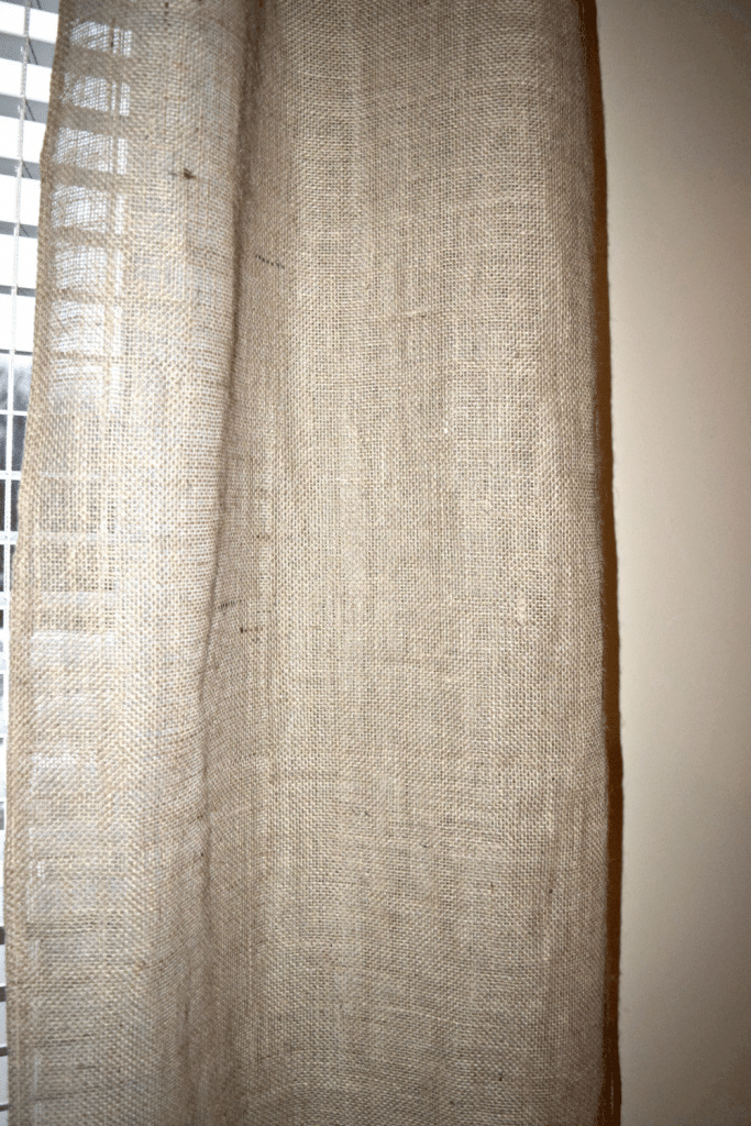 Quick Sewing Project for Regular Use: DIY Burlap Curtain in Free Pattern Style