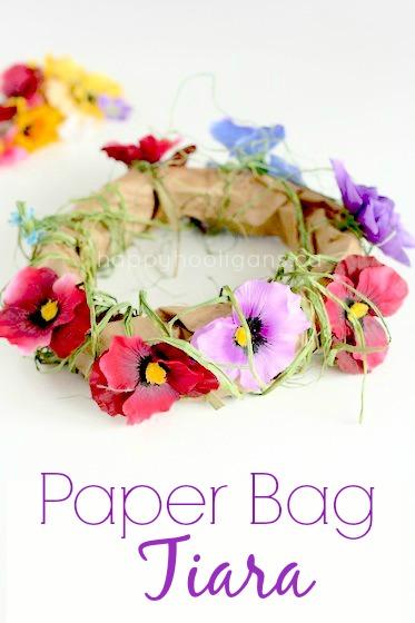 Paper Bag Blossom Tiara: A Fairy Craft Idea for Girls