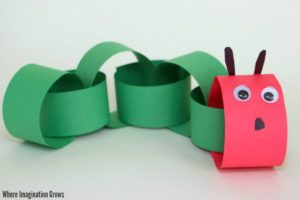 Easy Paper Chain Caterpillar Craft for Preschoolers