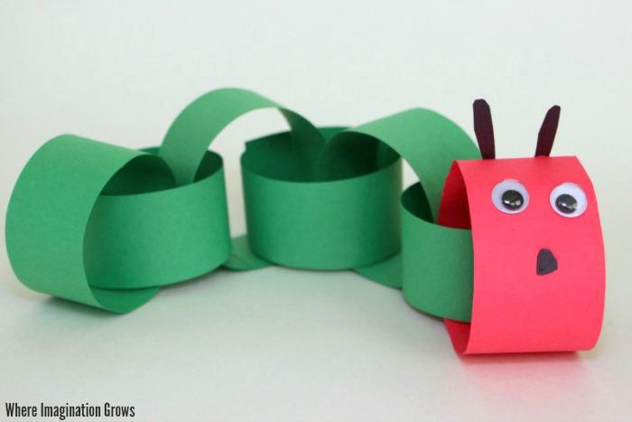 Easy Paper Chain Caterpillar Craft for Preschoolers