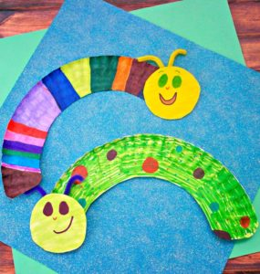 Faster Caterpillar Craft for Kids with Paper Plate