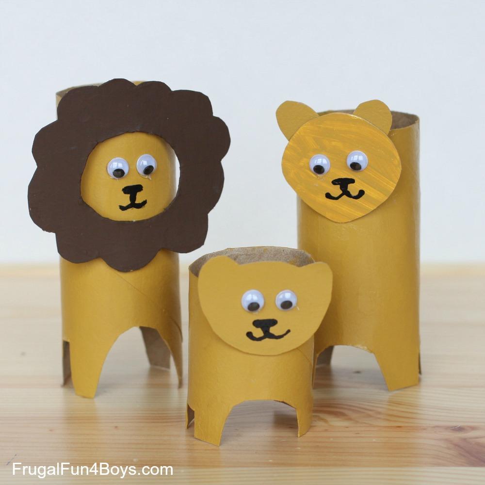 DIY Cardboard Animal Crafts from Empty Tissue-Paper Rolls