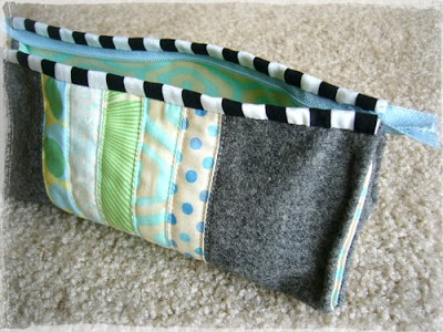Tutorial How to Make a Stylish Zip Pen Case with A Perfect Blend of Felt and Cotton Fabric