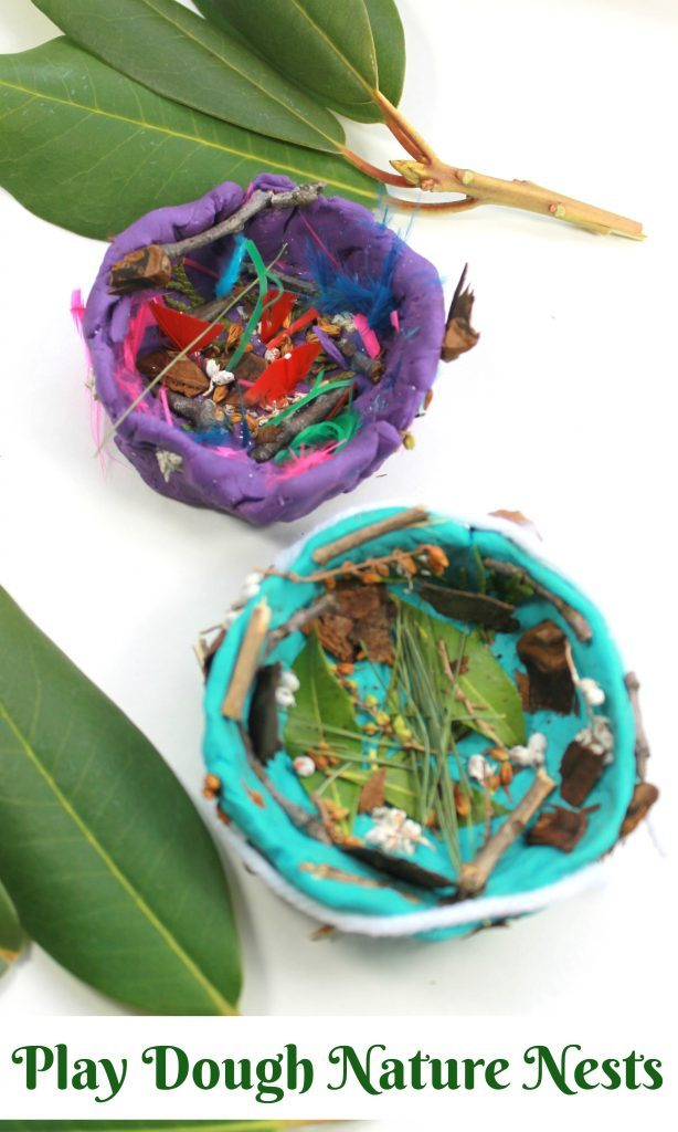DIY Play Dough Nature Nest Idea for Outdoor Learning Activities