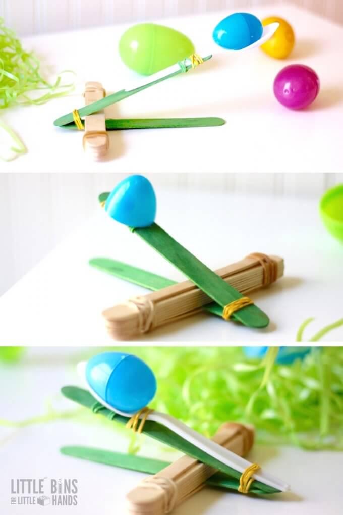 Popsicle Stick Catapult Design Ideas for Kids STEM Activities