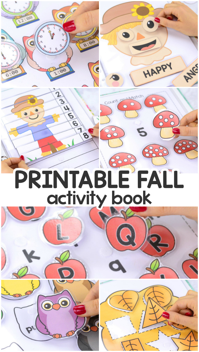Printable Fall Activity Book with Learning Lessons